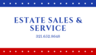 Estates Sales and Service