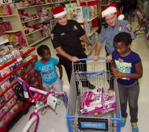 Local Police Fulfill Christmas Wishes for Children