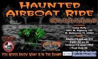 Haunted Airboat Ride