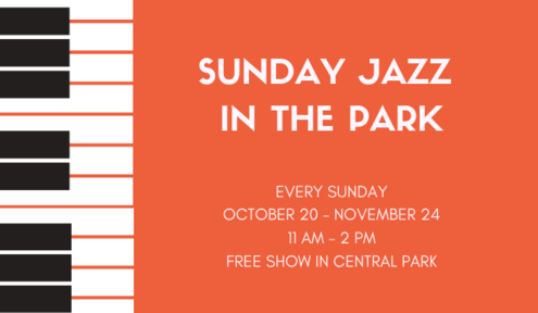 Sunday Jazz in the Park Begins Sunday, October 20
