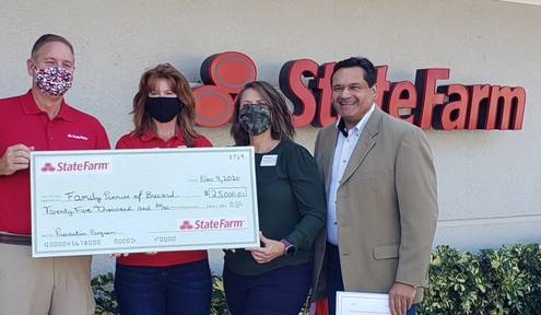 Family Promise of Brevard Receives a $25,000 Award from State Farm
